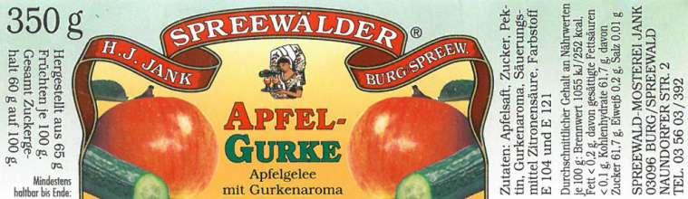 Apfelgelee mit Gurkenaroma