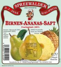 Birnen-Ananas-Saft