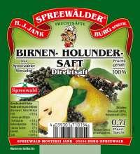 Birnen-Holunder-Saft Direktsaft
