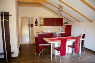 Küche der Ferienwohnung Fass 1