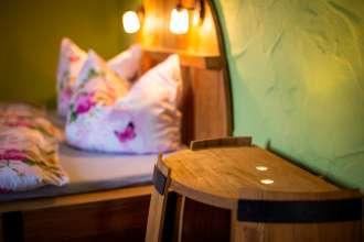 Detailansicht Fass-Bett