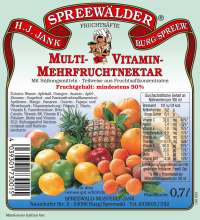 Multivitamin-Mehrfruchtnektar