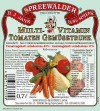 Multivitamin-Tomaten-Gemüsetrunk