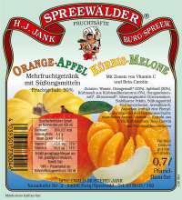 Orange-Apfel-Kürbis-Melone
